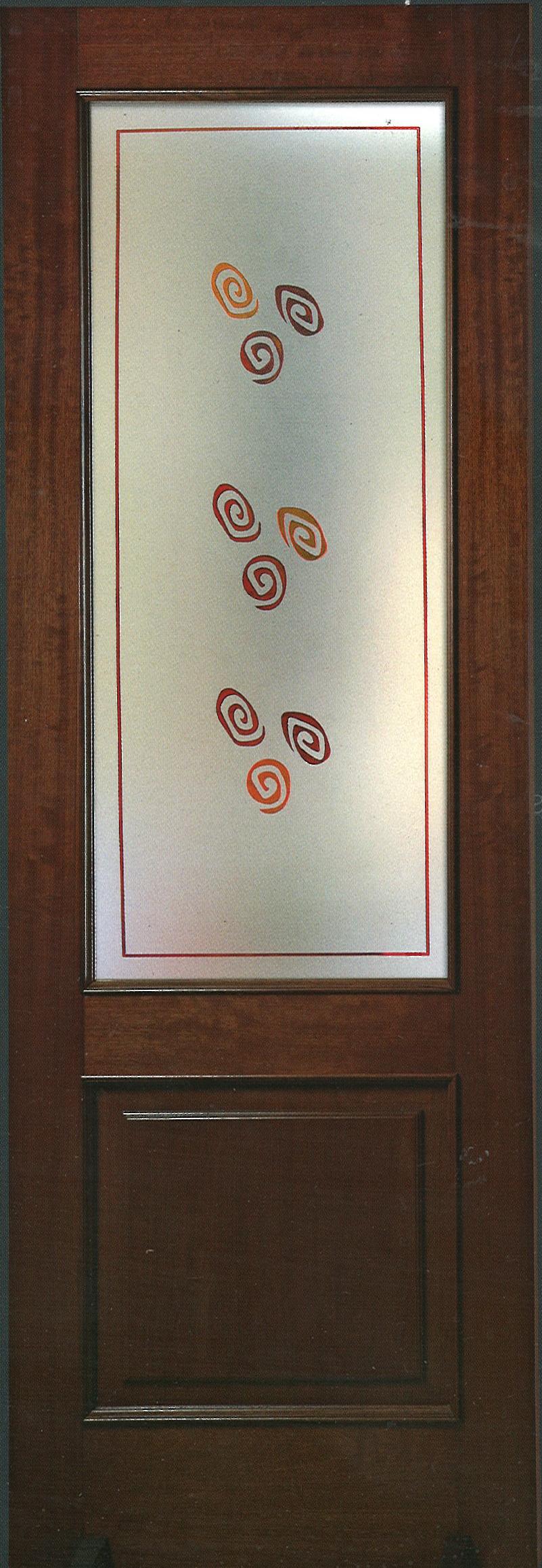 Porte interne con vetri artistici   Serramenti Margherita